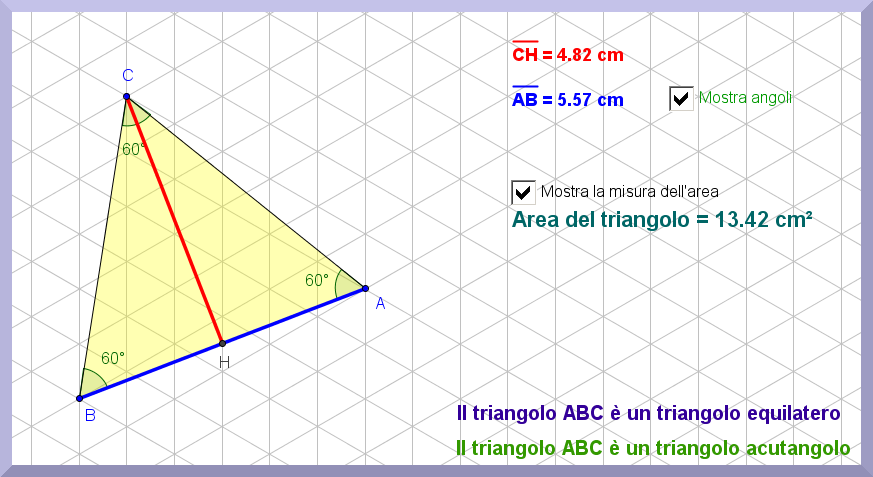 geogebra area triangle